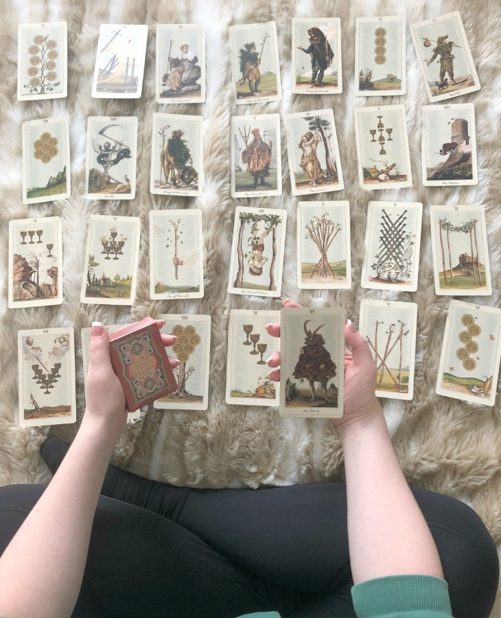 If you plan on fortune-telling using Tarot and Lenormand cards, make sure that you use them for different types of readings. - card deck used in this reading are the Pagan Otherworlds