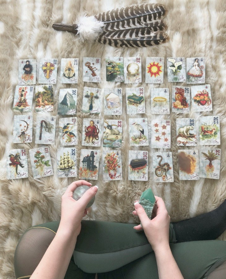 You should respect Lenormand reading as it's own form of divination, even if you're not a beginner to different methods of fortune-telling. Lenormand provides benefits which playing card reading does not, so do not muddle the two.
