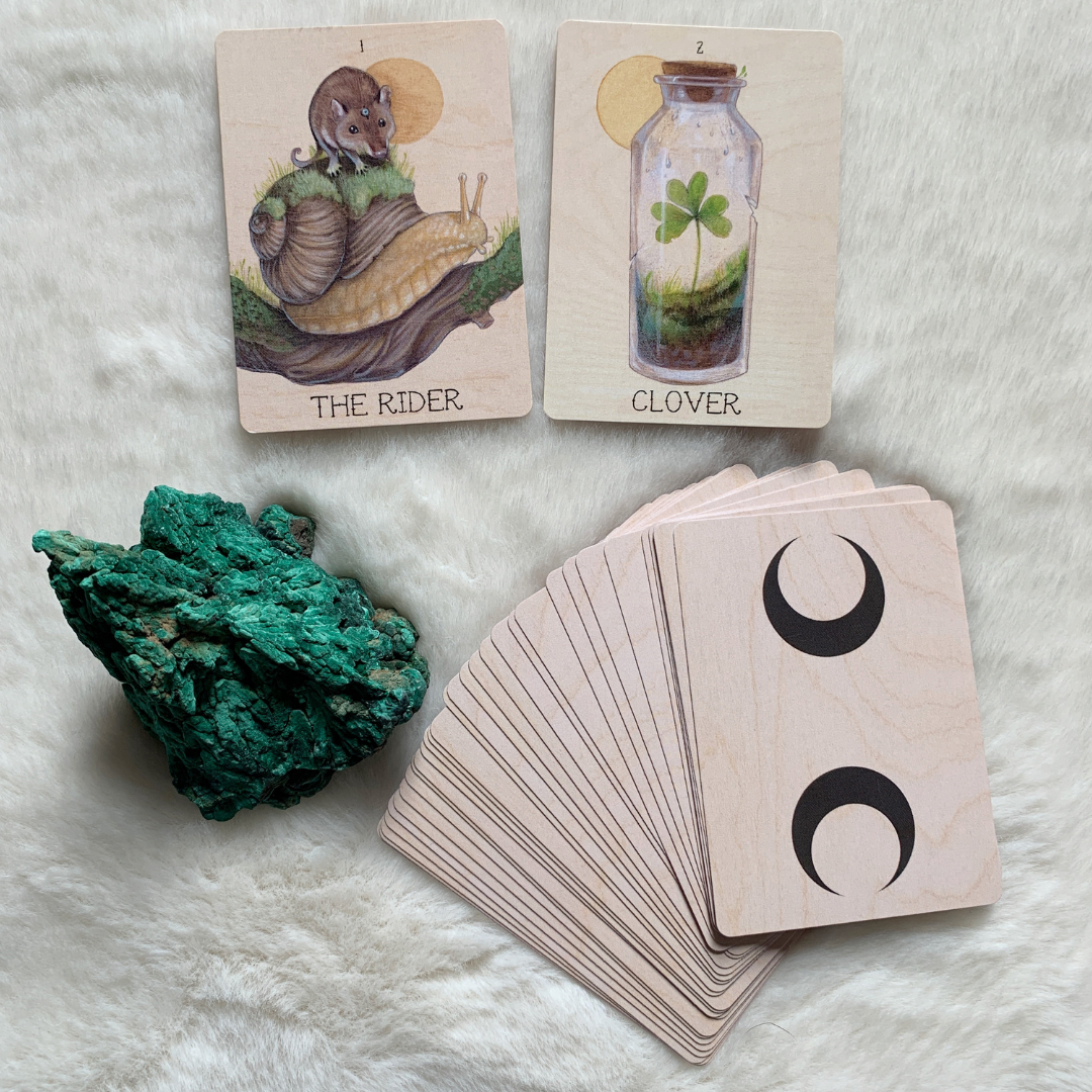 In Lenormand, The Rider and Clover in combination can indicate an invite which you feel is risky in some way.