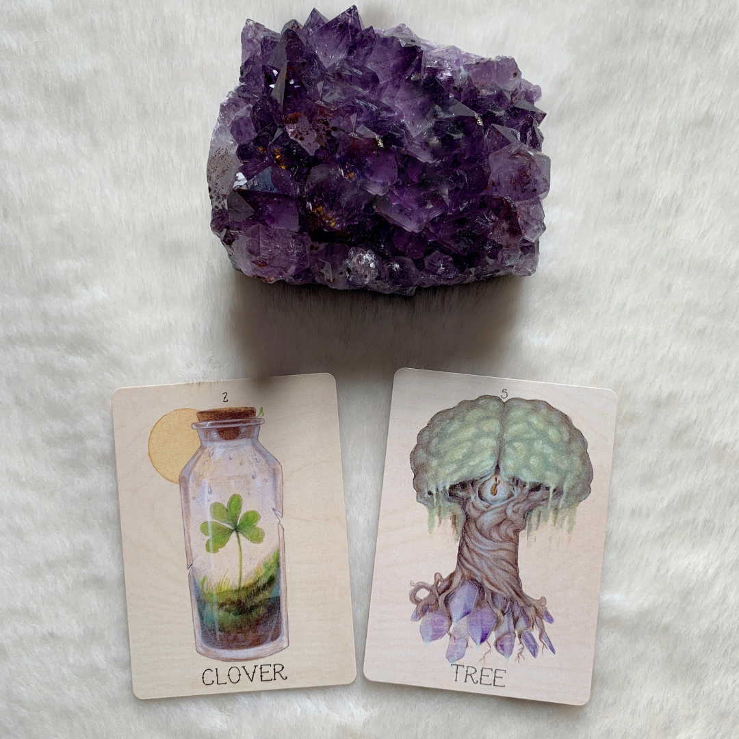 When the Lenormand Clover appears in combination with Tree, this can indicate enjoyment which is not fleeting but which lasts for a very long time.