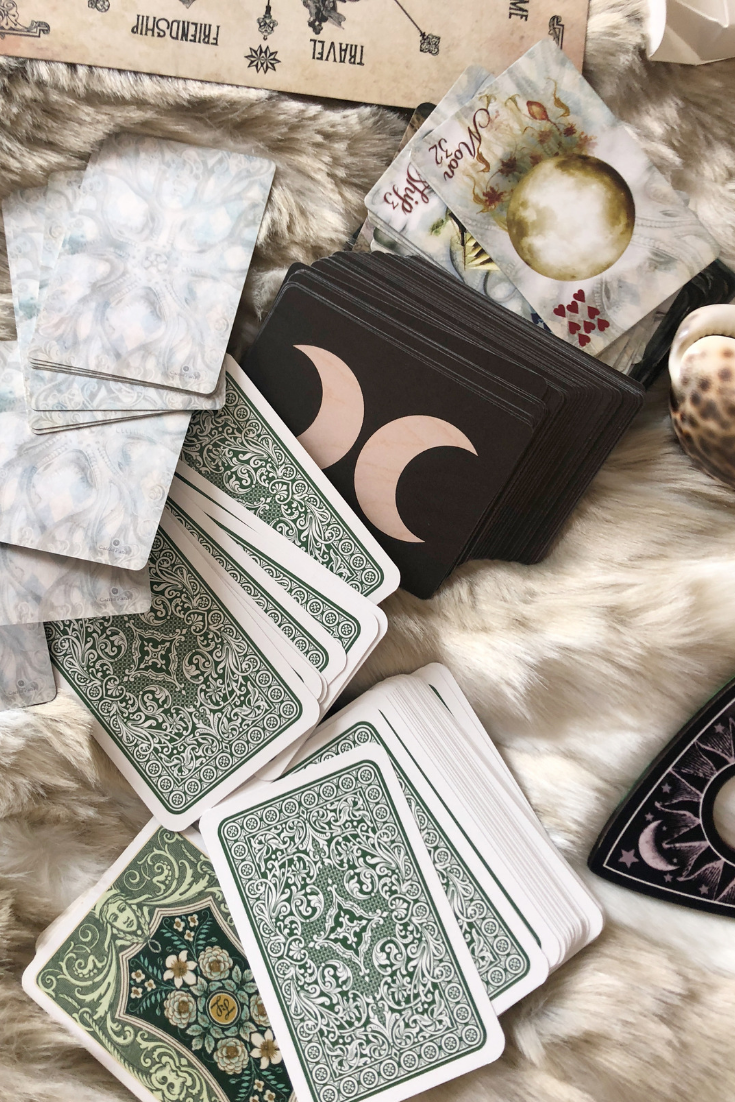 Lenormand cards in their own house and position of the Grand Tableau spread by Read Lenormand by Divination and Fortune Telling. .png