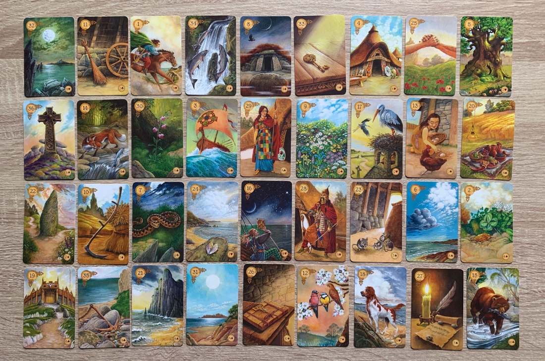 The Lenormand Grand Tableau we are about to interpret! - Love this deck? Purchase it  here !