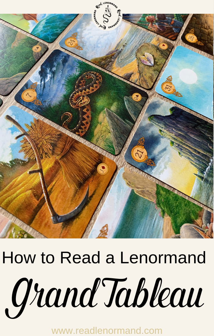 How do you read Lenormand grand tableaus spreads, also known as tables? In this blog post, we look at how to interpret this Lenormand divination spread for beginners, including the house meanings. This 36 card layout is suitable for beginners, and fortune tellers who are experienced in this thirty six card reading system.