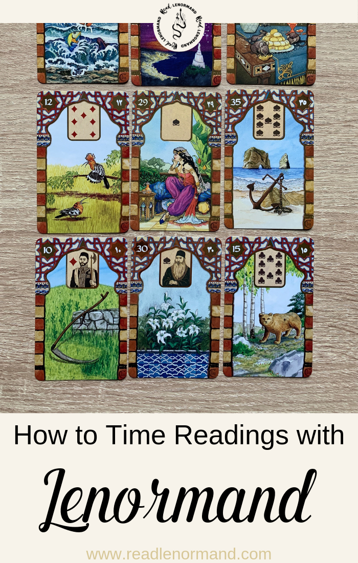 What are some of the timing methods in Lenormand? How is it possible to read time with a Lenormand deck? Do you use one card or a range of cards to set a time frame with Lenormand card divination? If you're asking these timing questions and more this article is for you!