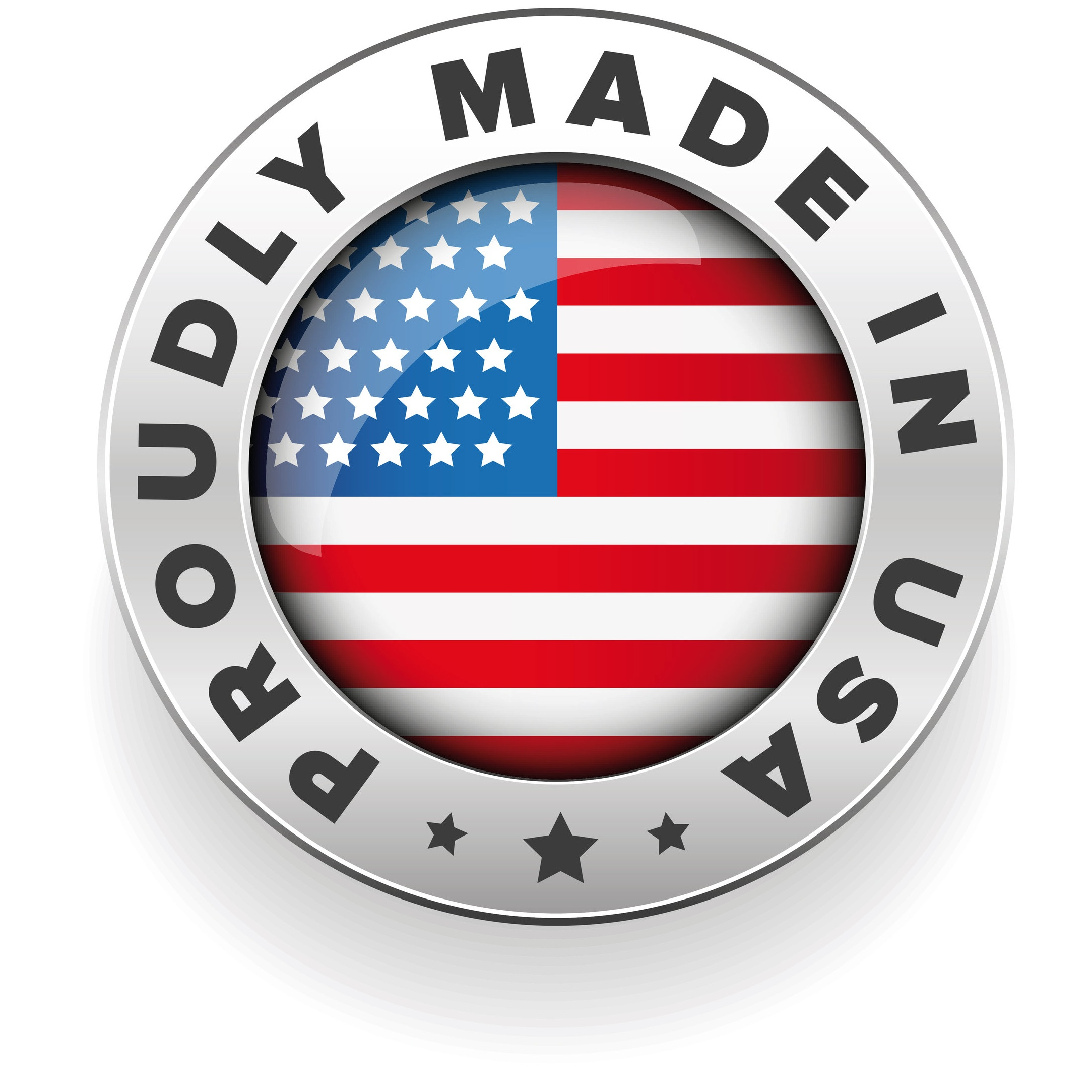 Proudly made in USA badge