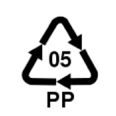 05 PP plastic triangle recycling symbol