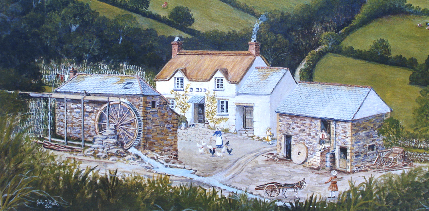 Following our visit to the church, Derek and Susanne took us to nearby Tregonwell Mill where their son Bruce lives. Here is a painting by John Whale showing Tregonwell Mill in the late 1700's.