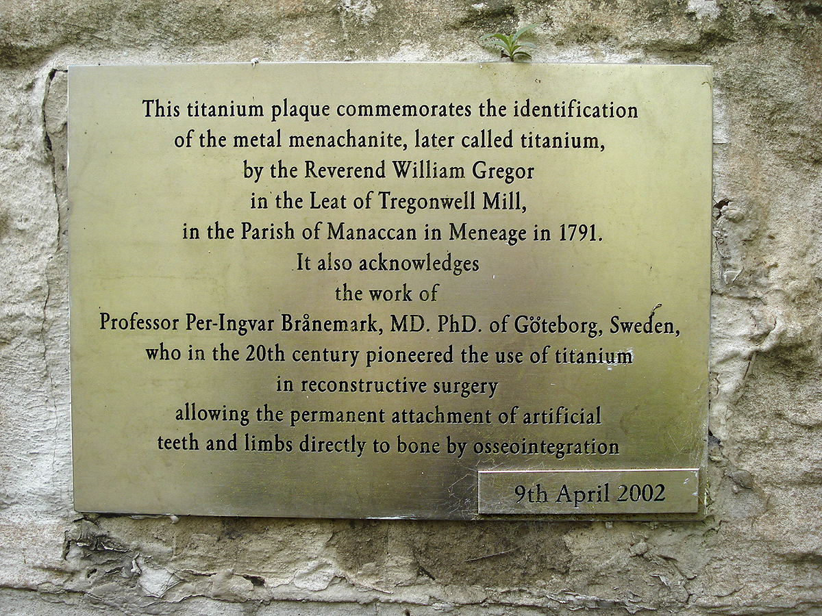 On the front of the mill is ANOTHER titanium plaque.