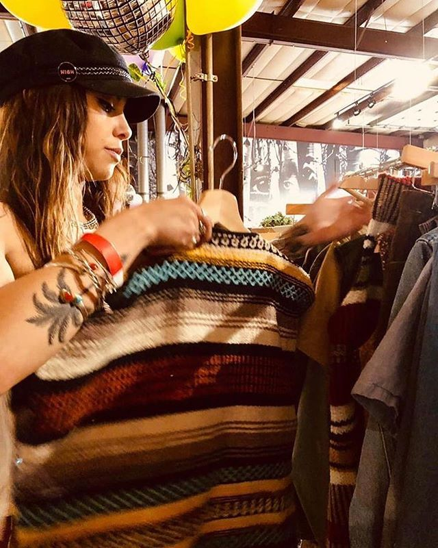 ✨: #Repost @dulce___mar ・・・ It's snowing outside, and I'd rather be thrifting in the sun instead. 🧵  Here's a picture of me digging for gold at the @shopbonfirevintage pop-up they had last weekend. It's so inspiring to see all of the different small business taking an initiative to make the fashion world and the physical world a better place. I've always had a LOVE for clothing and fashion and have recently been extremely passionate about secondhand scores and thrifting.  Fast fashion is cheaply produced and poorly constructed clothing that is pumped through stores to maximize on current trends.  The result: • 85% of the plastic pollution in the ocean is due to microfibers from synthetic clothing. • 70 million barrels of oil are being used to make the world's polyester fiber, which is now the most commonly used fiber in clothing. • 20,000 liters of water being used to produce 1 kilogram of cotton.  Hmm. No wonder fast fashion is one of the leading causes of climate change. Learn the facts babes and embrace the #slowfashion movement.  #fuckfastfashion #fastfashionsucks #slowfashionmovement #climatechange #savetheplanet #onestepatatime