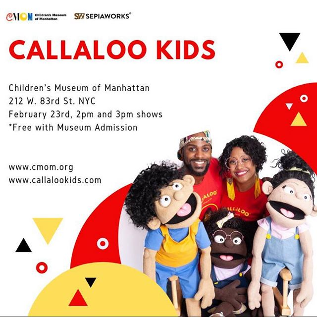 Our Callaloo Kids Live show will be at @cmomnyc this weekend with 2 SHOWS!! Don't miss it NYC! 👍🏾 #artseducation #theatre #kidslit #puppets #childrensbooks #nyctheatre #literacy #reading #art #education #storytellers