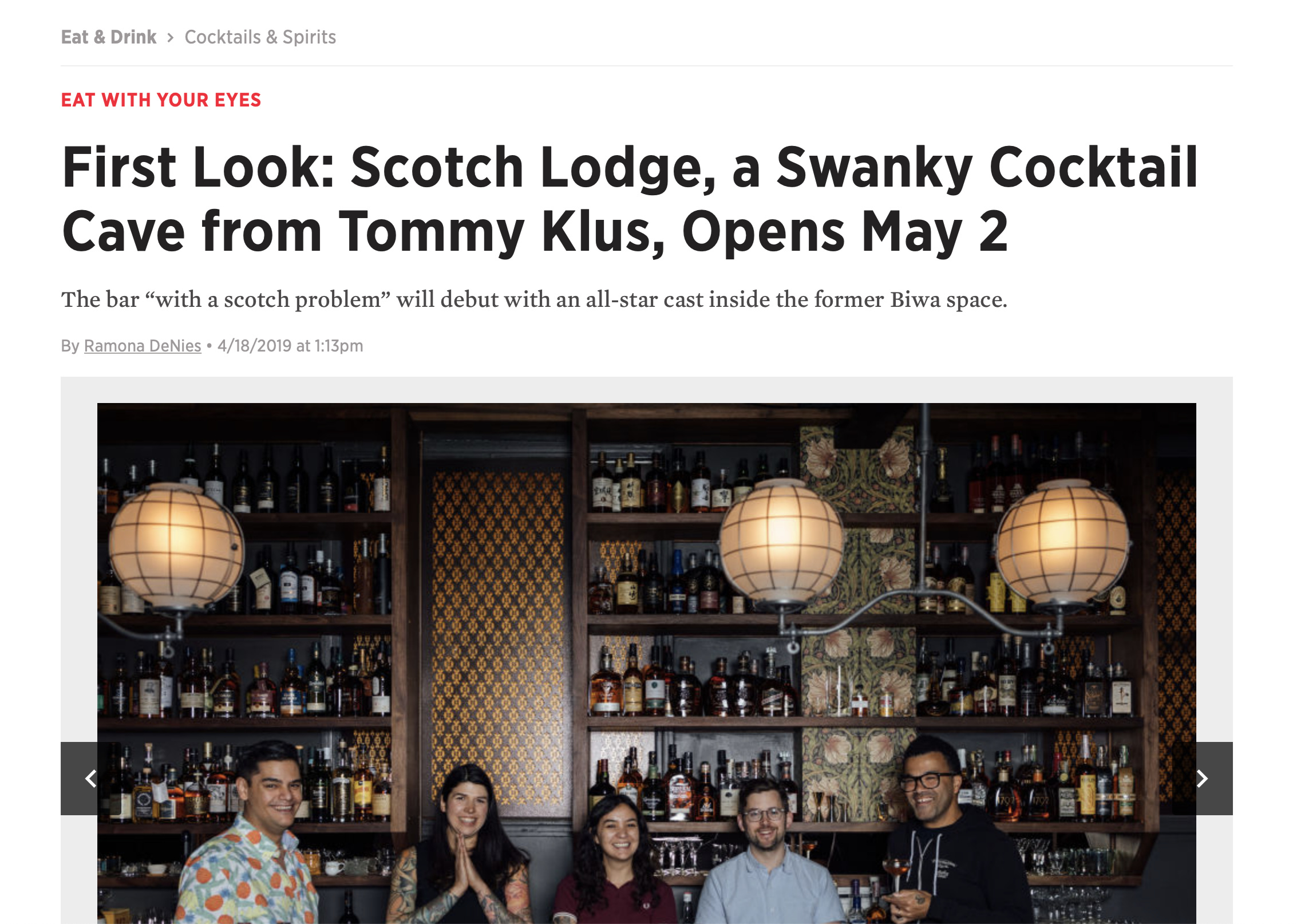PORTLAND MONTHLY - First Look - Ramona DeNies April 18, 2019