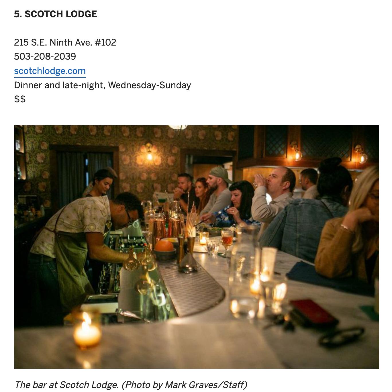Oregonian - Best Restaurants