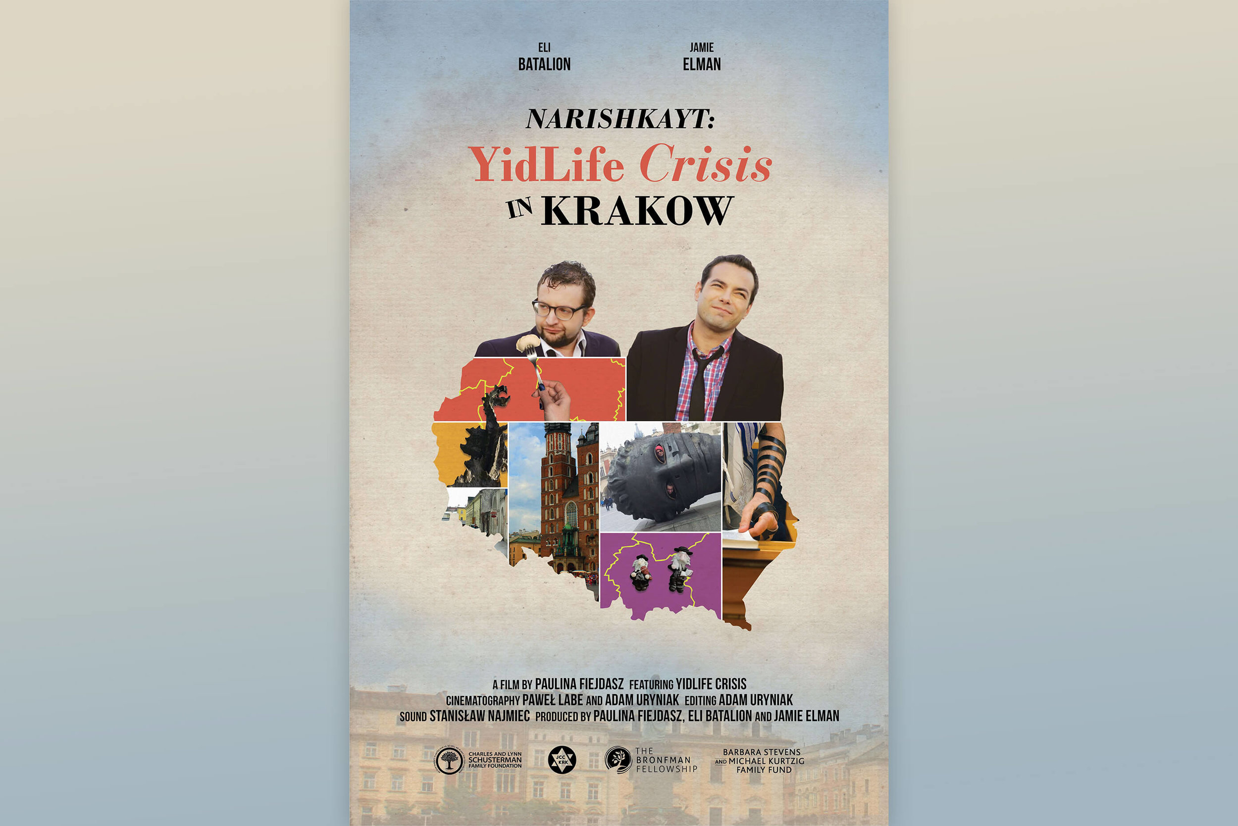 "Narishkayt:YidLife Crisis in Krakow - Narishkayt (Yiddish for ""silliness"") follows YidLife Crisis on tour as they bring their show to Krakow and explore the dynamic and delicate intersections of Polish and Jewish life in the past and present."