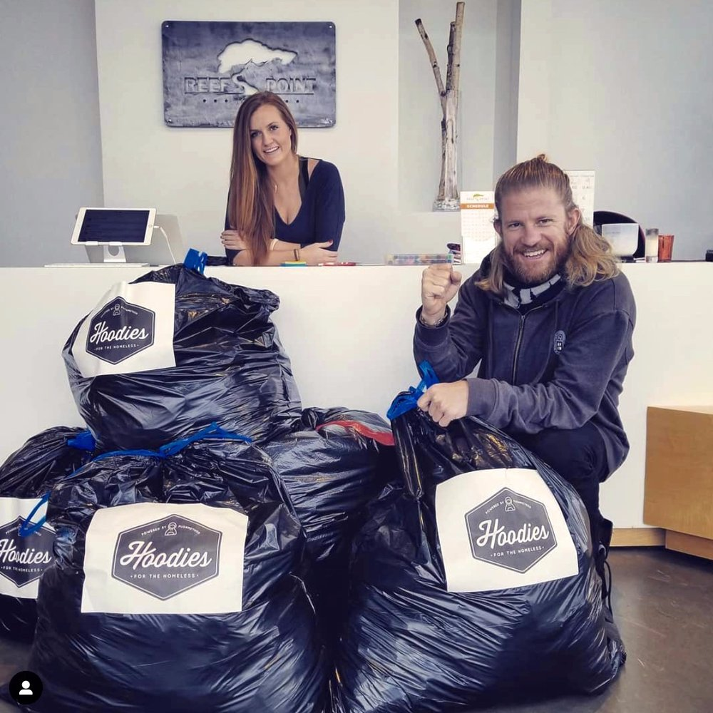 Host a donation box! - New places to collect hoodies means more hoodies to collect. So if you have an office space, classroom or any other space available, we'd love to hear from you. Contact us at info@forthegreaterhood.comto arrange for us to have a box delivered to you.