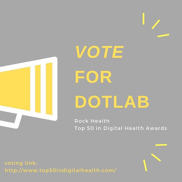 Wow! We're honored to have been nominated for Rock Health's Top 50 in Digital Health Awards. Vote DotLab for Founder of the Year  Voting link (scroll down to 3. Founder of the Year): http://www.top50indigitalhealth.com/  #womenshealth#endo#digitalhealth#rockhealth#vote#dotlab#dotendo