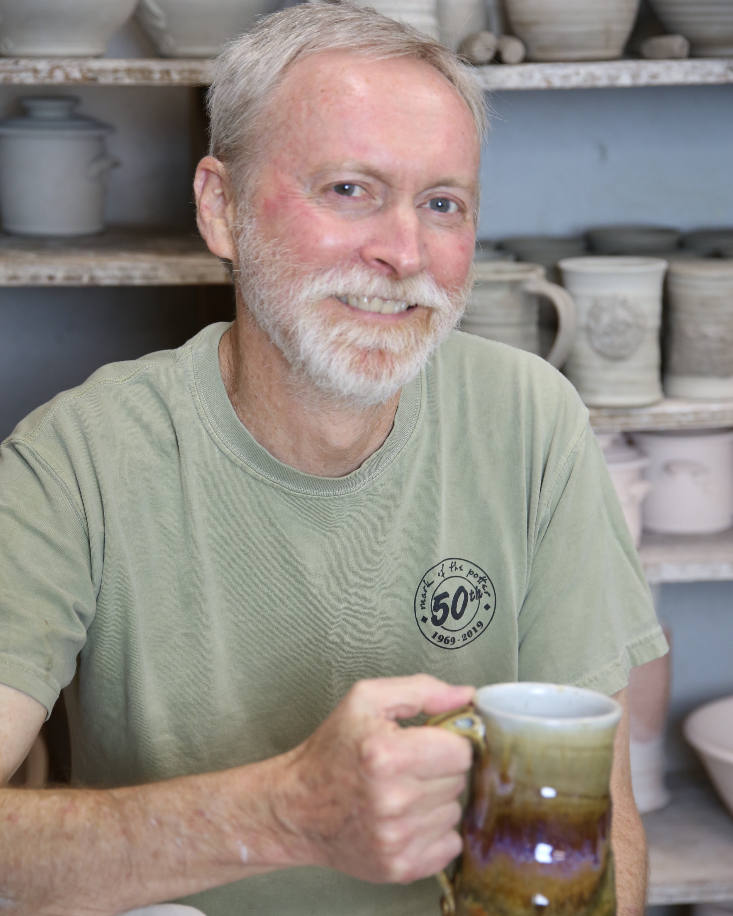 Matt Henderson   Matt began studying ceramics under John Arnold at The University of Texas, El Paso where he received his Bachelor of Art in 1981. Then in 1986 he completed the Master of Fine Art program at The University of North Texas under Elmer Taylor.  With over 38 years of experience creating pottery and teaching at the university level Matt is still passionate about the craft and art of clay. He still feels there is nothing more gratifying than seeing his pottery being used and enjoyed.