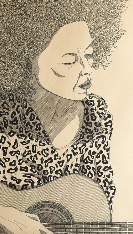 """Valerie"", Ink on paper, 95x47cm, 2016 - Detail"