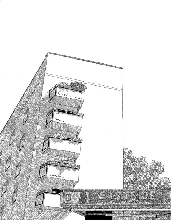 """Copy of """"Warschauerstraße ecke Grünbergerstraße"""""""