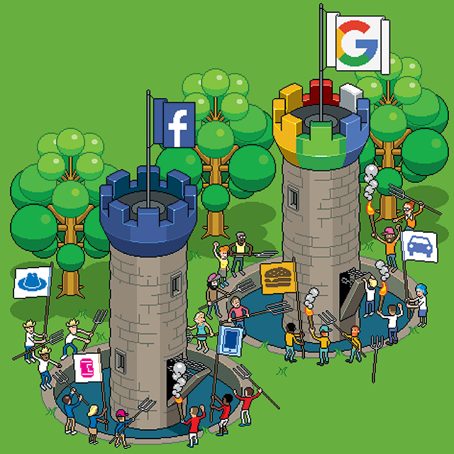 Some are storming the gates of the walled garden approach to measurement. Illustration: eBoy