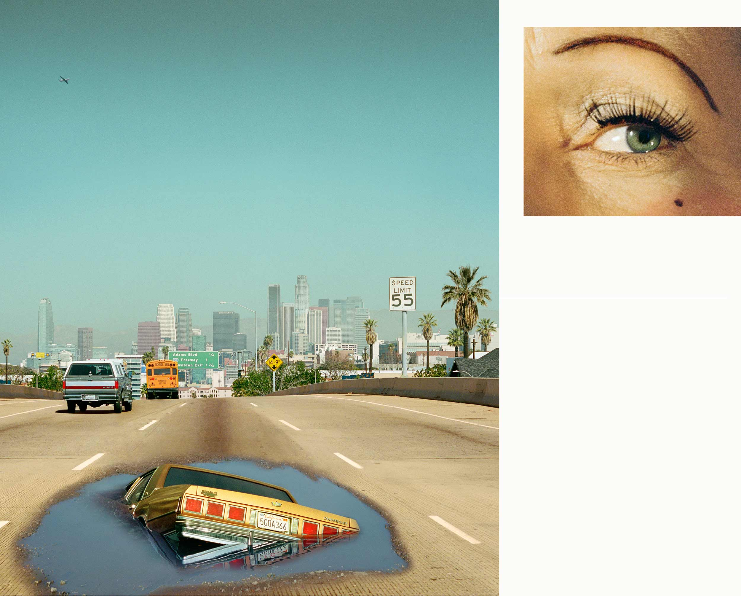 Compulsion   2:00 PM, Interstate 110 and Eye #6 (Sinkhole) (Diptych),  2012