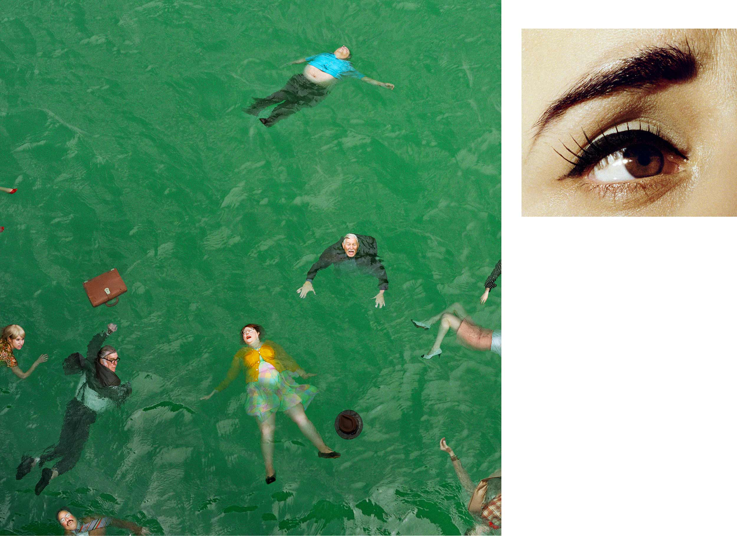 Compulsion   3:14 PM, Pacific Ocean And Eye #9 (Passenger Casualties) (Diptych),  2012