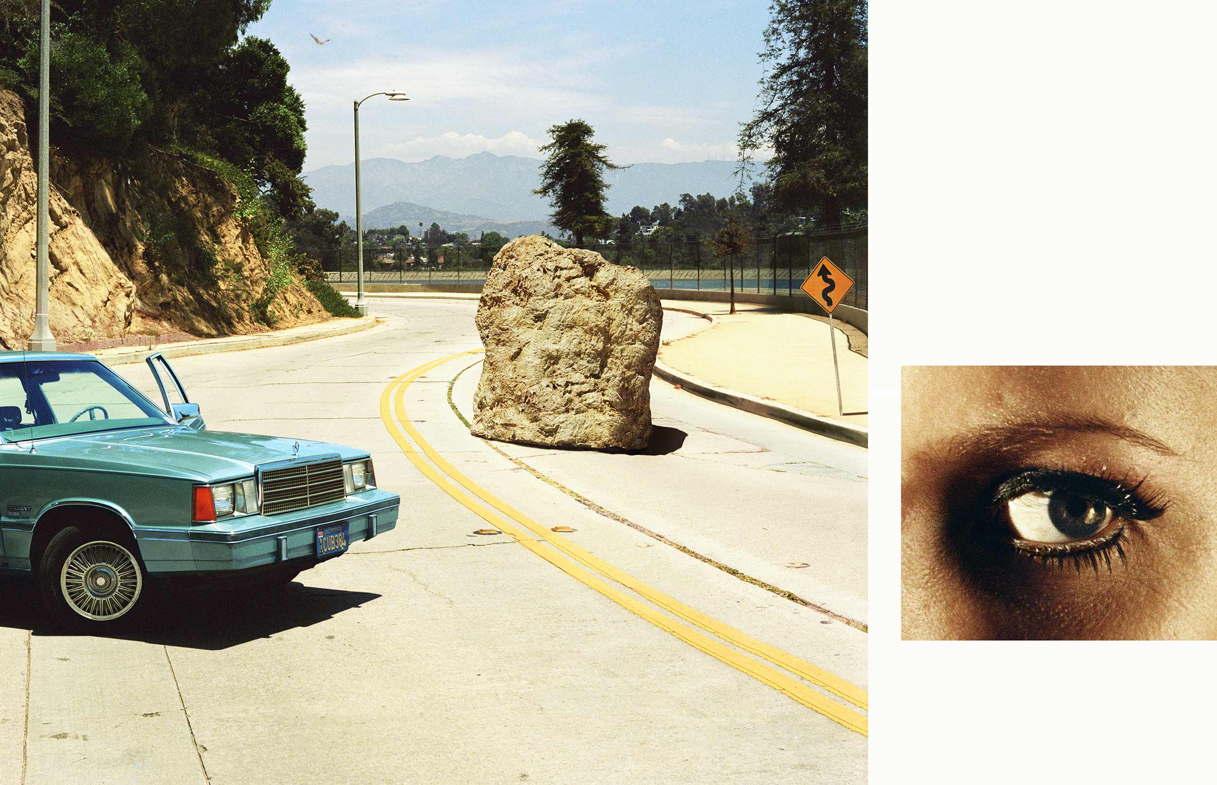 Compulsion   1:18 PM, Silverlake Drive and Eye #2 (Boulder) (Diptych),  2012