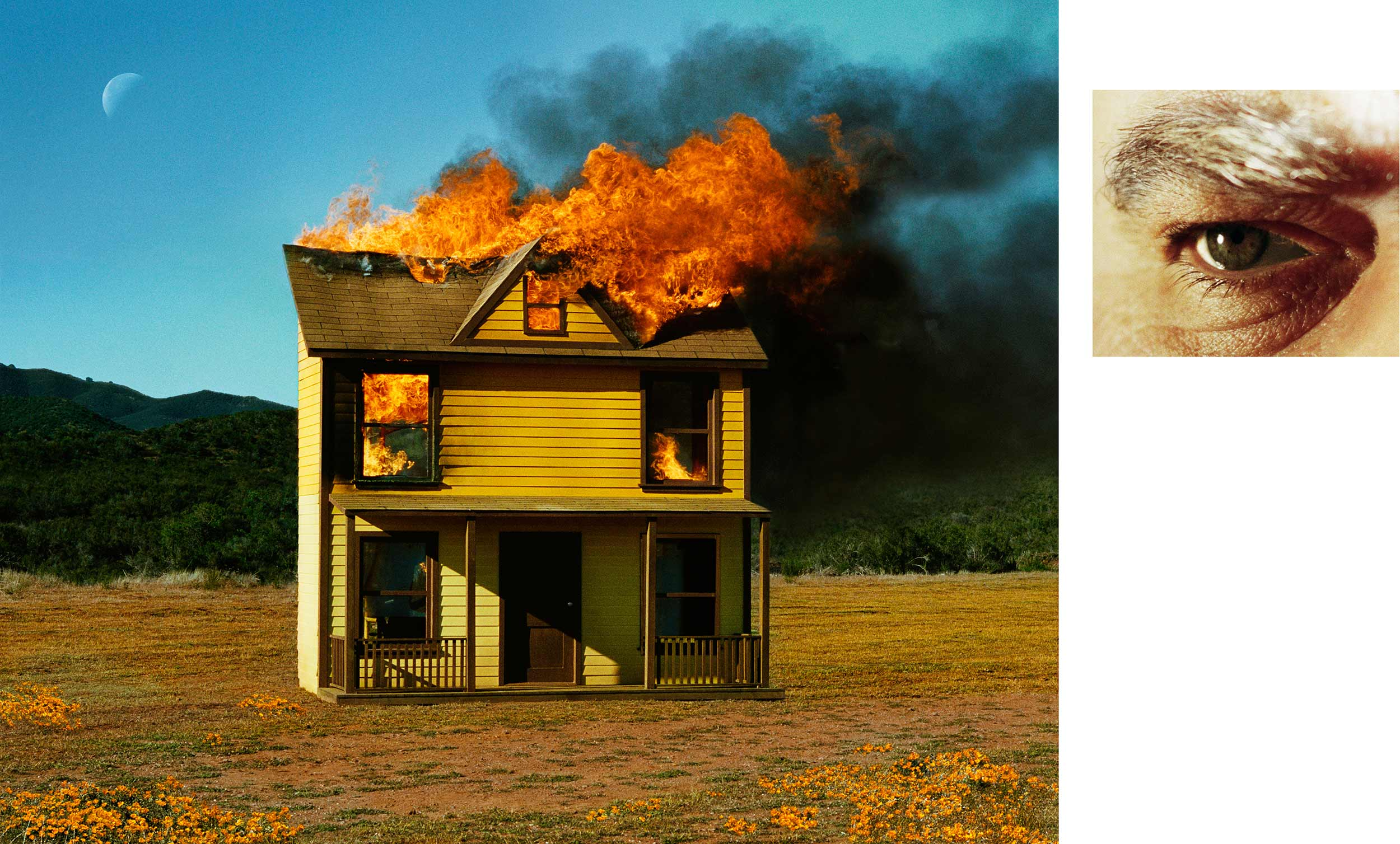 Compulsion   4:01 PM, Sun Valley And Eye #3 (House Fire) (Diptych),  2012