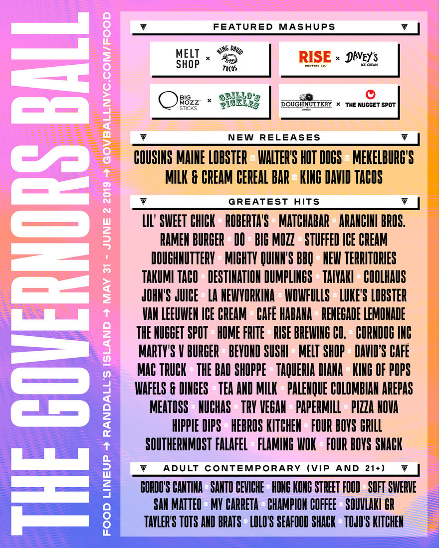 Gov Ball Vendors Flier