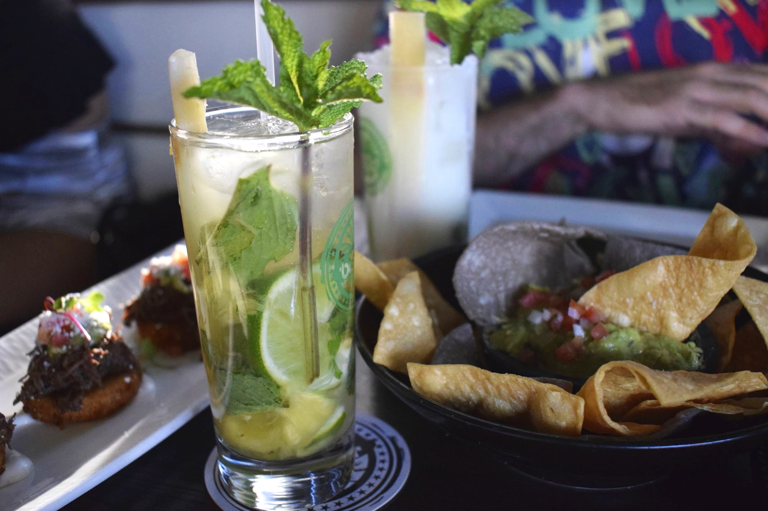 Pineapple and Coconut Mojitos at Blend on the Water | Photo Credit:  Lauren Johnson
