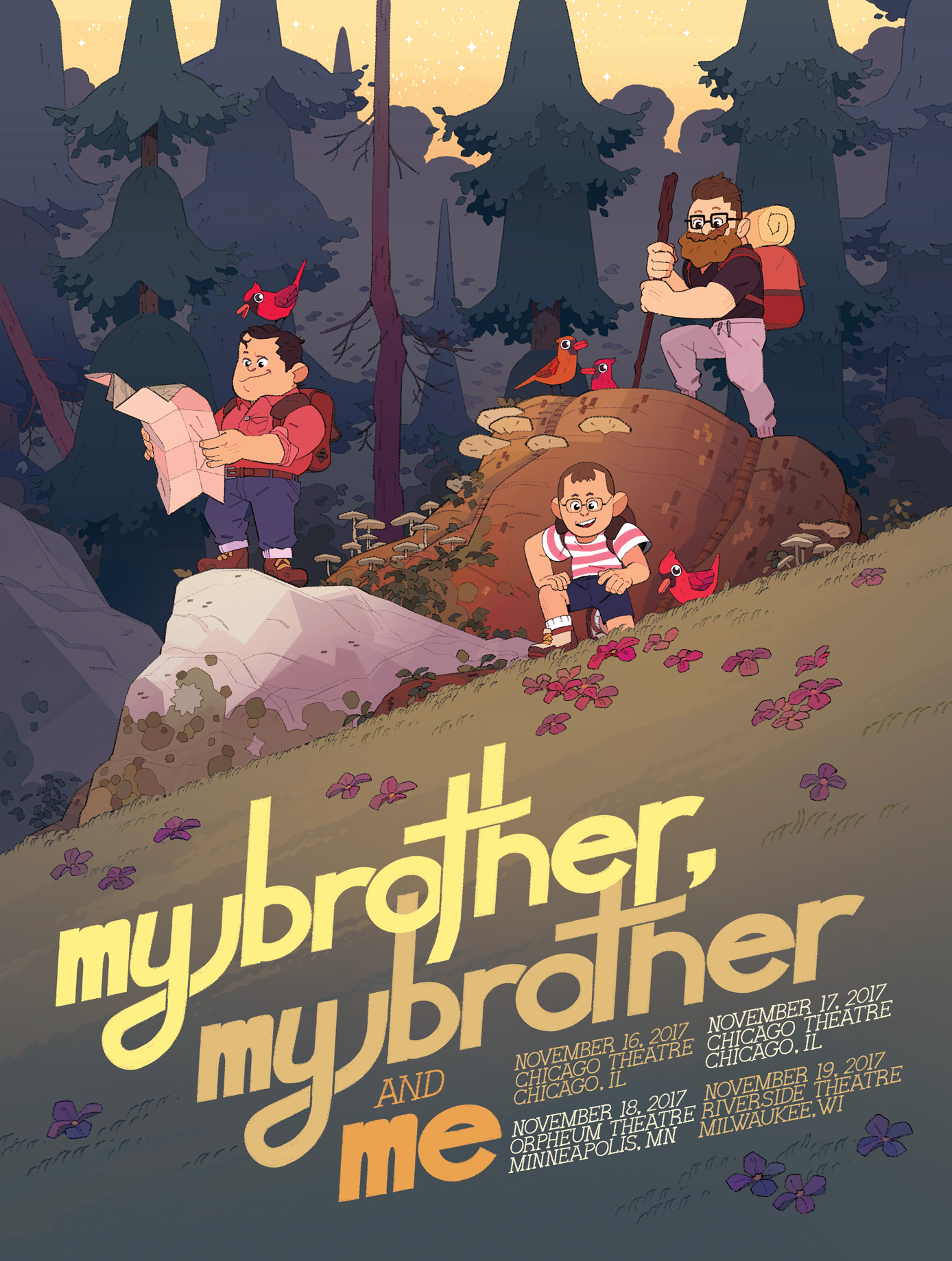 MBMBaM Midwest Tour Poster