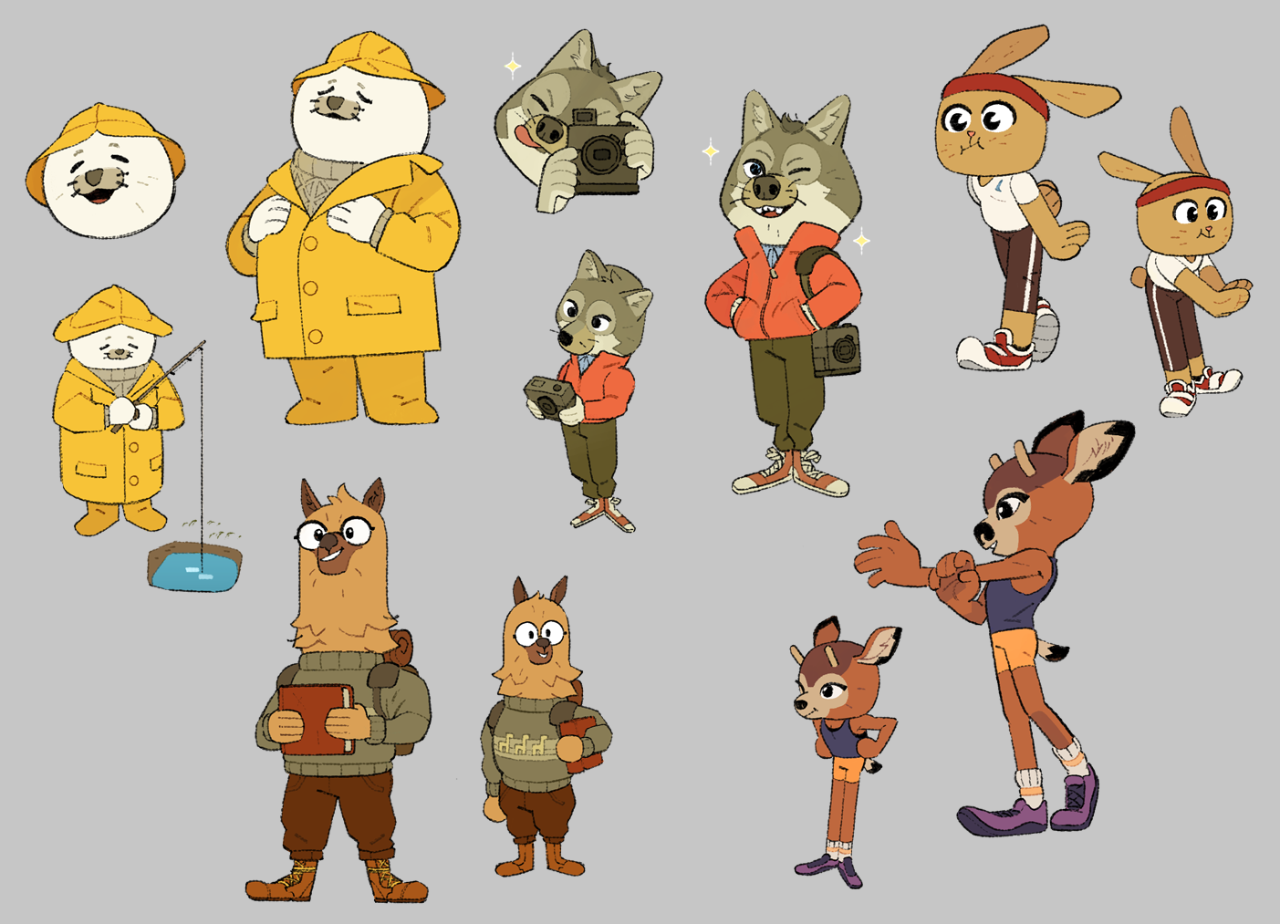 Various character assets.