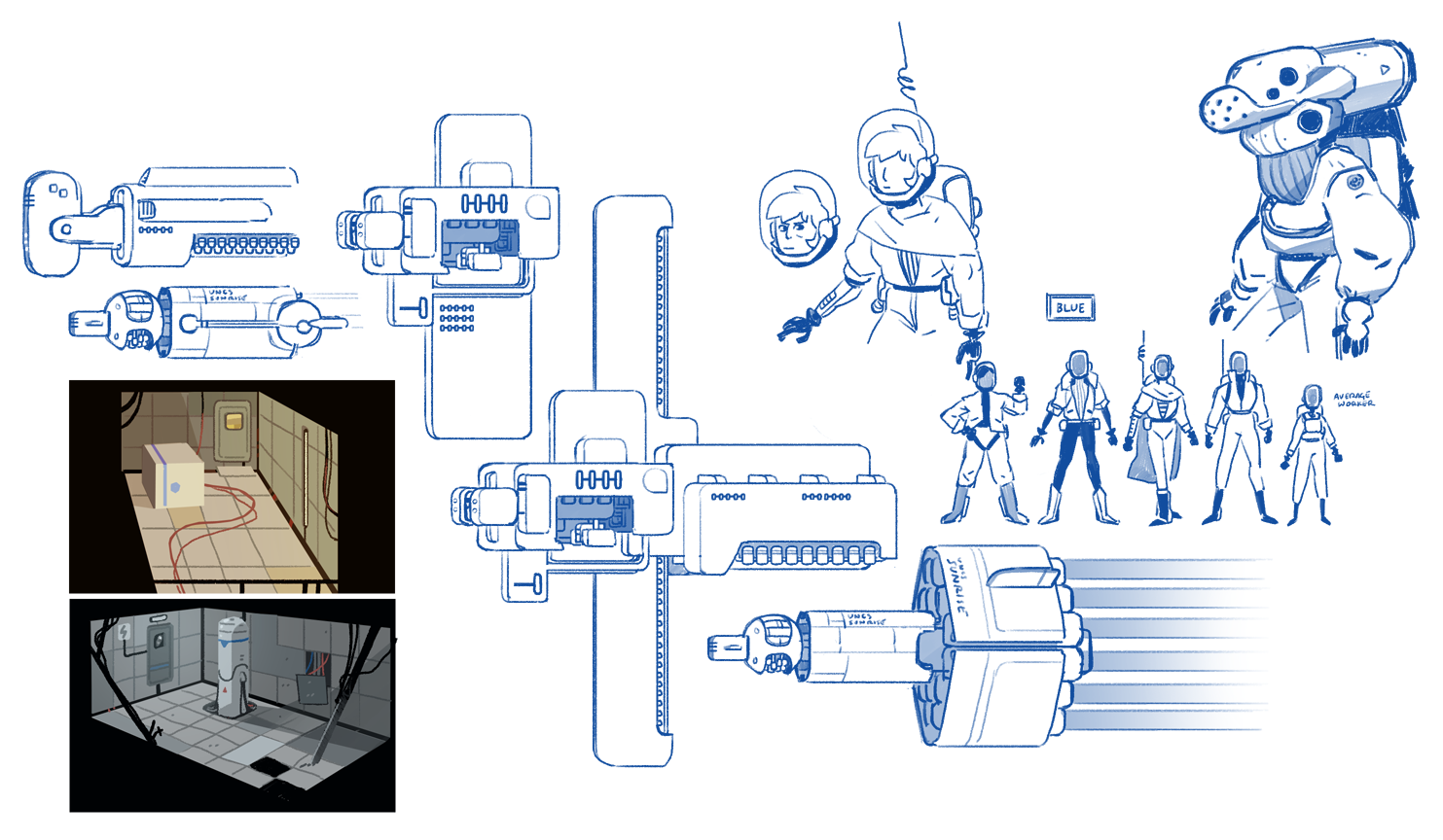 Various concepts and color keys.