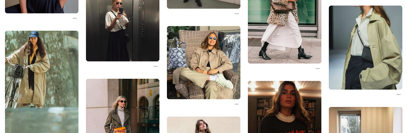 I specifically copied a couple of these trench coat looks last Spring