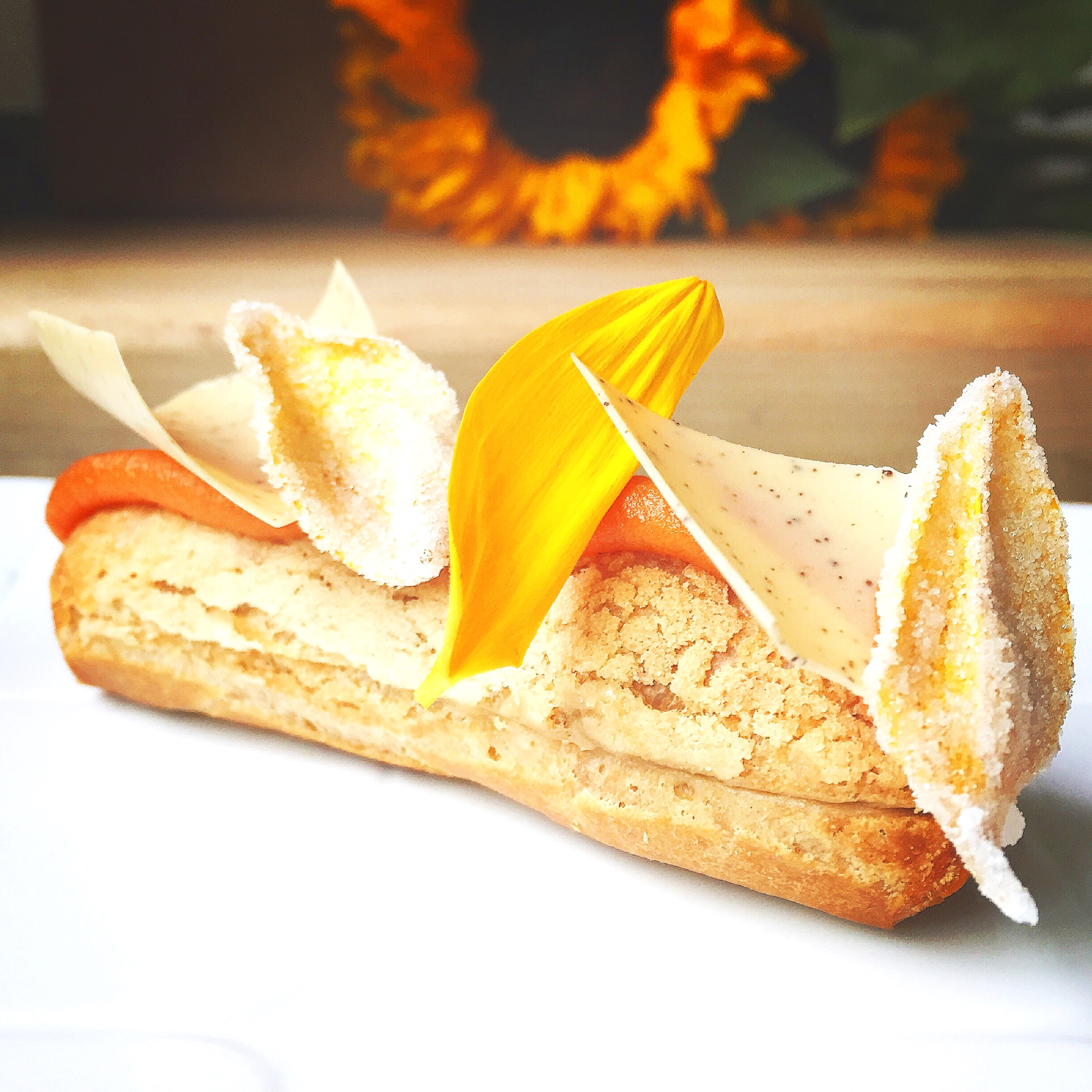 Sweet Potato and Coffee Eclair