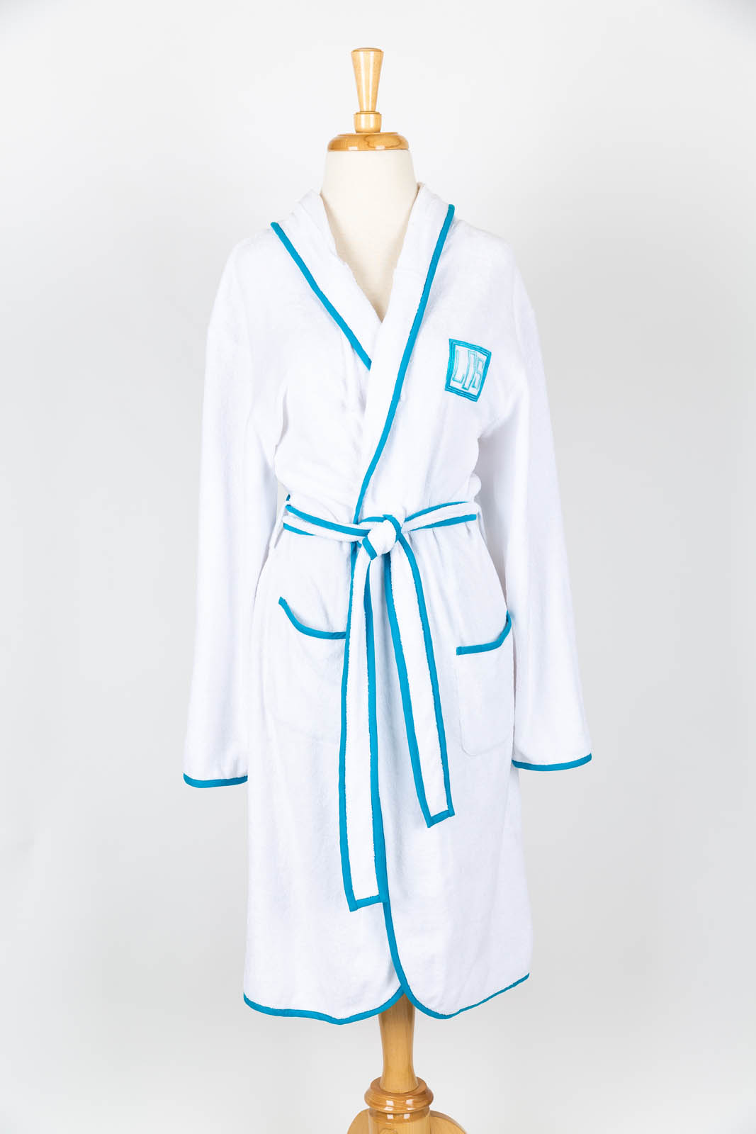 Terry jersey classic robe with Brooks Monogram