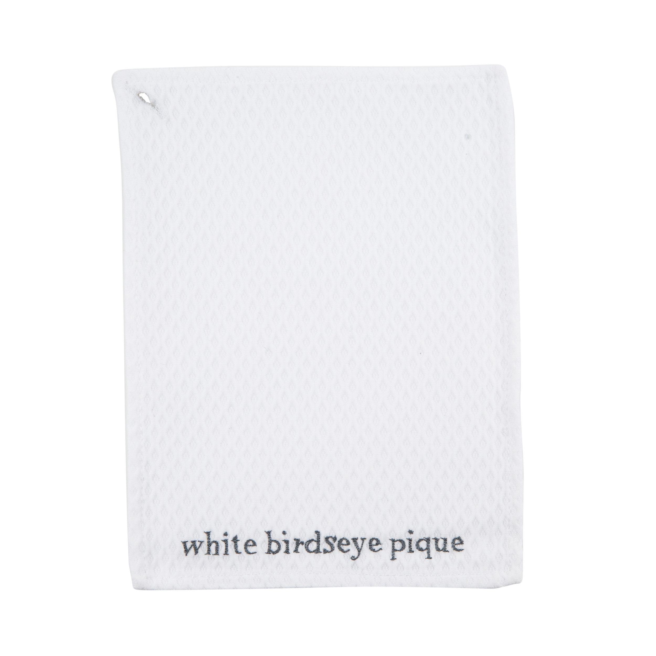 WHITE BIRDSEYE PIQUE