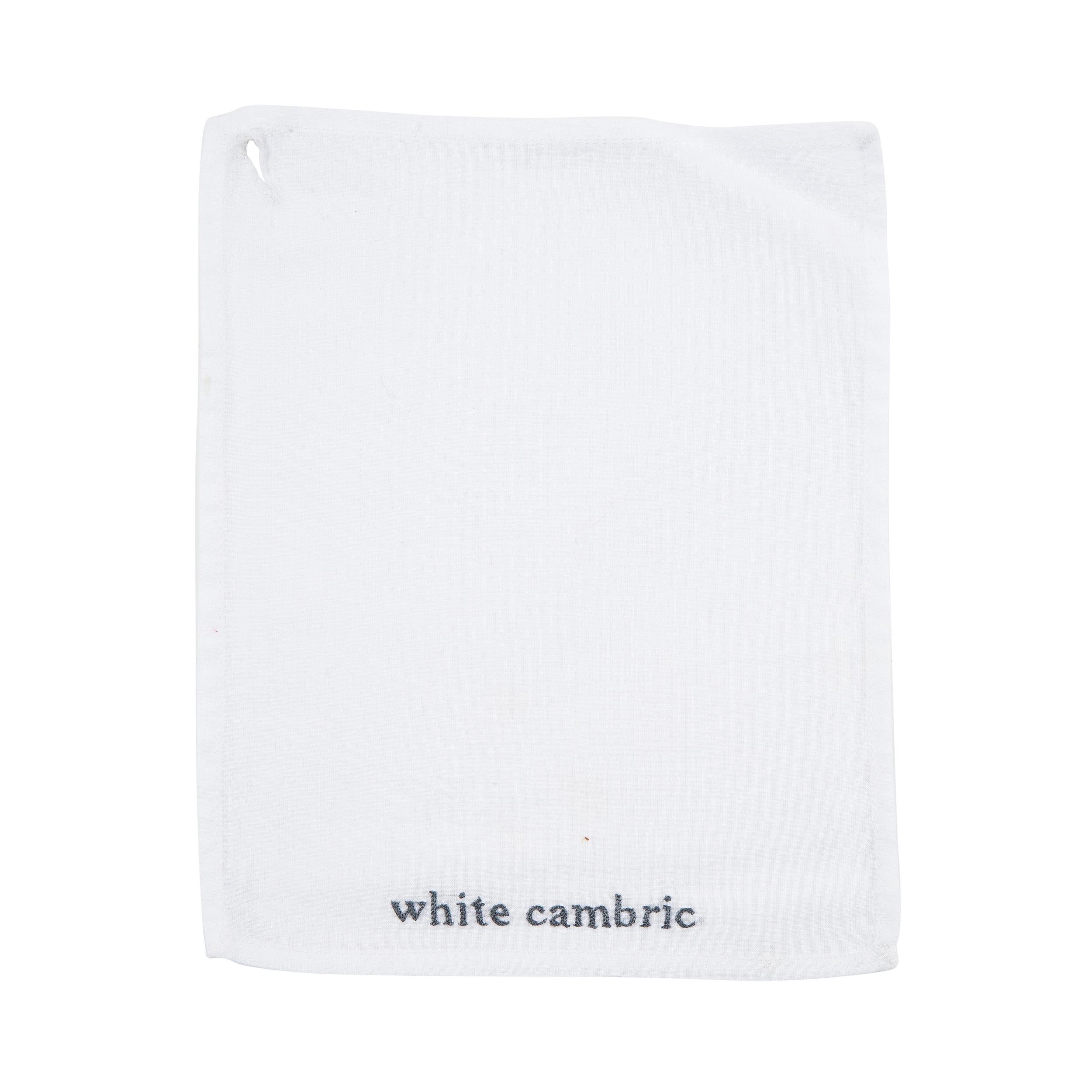 WHITE CAMBRIC