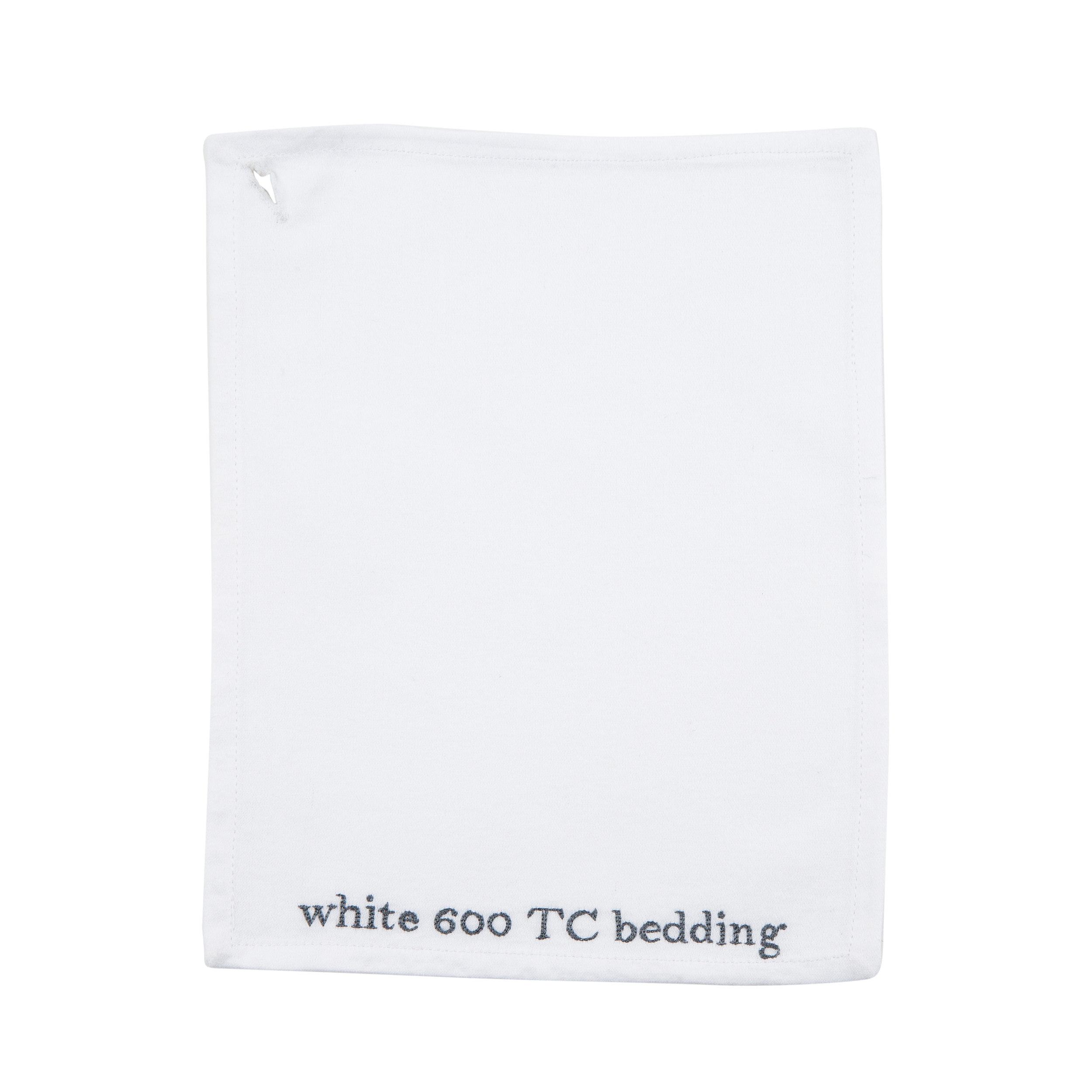 WHITE 600 TC BEDDING