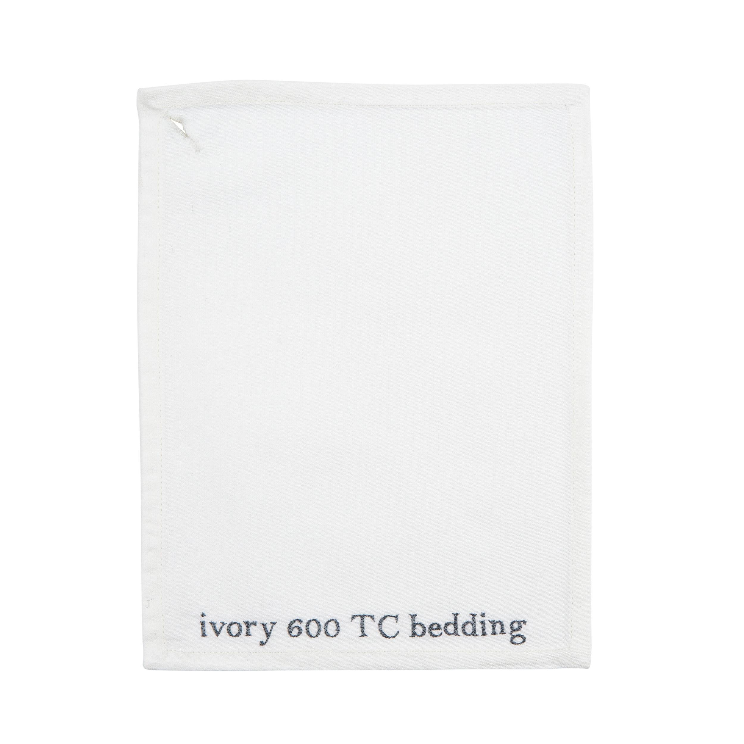IVORY 600 TC BEDDING
