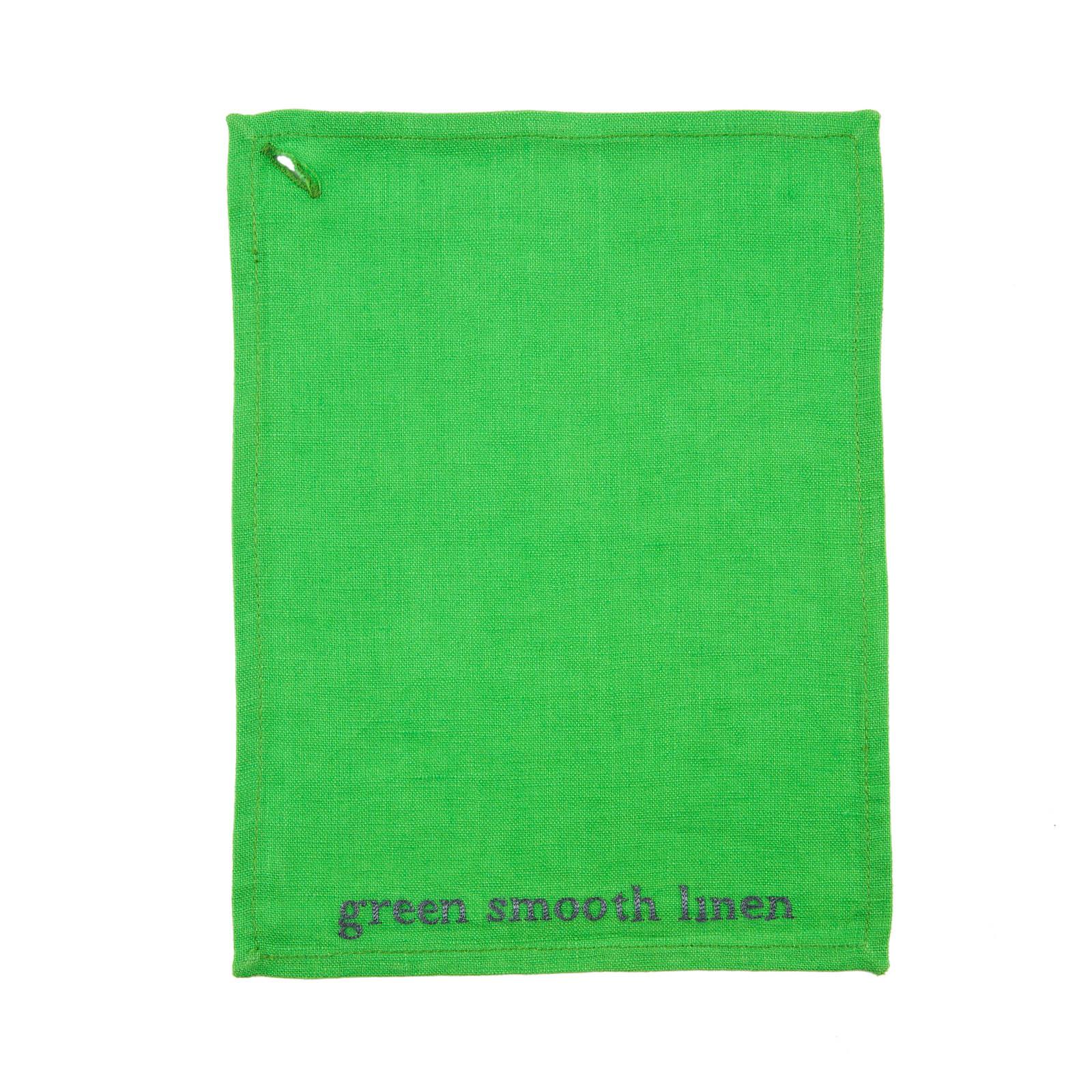 GREEN SMOOTH LINEN