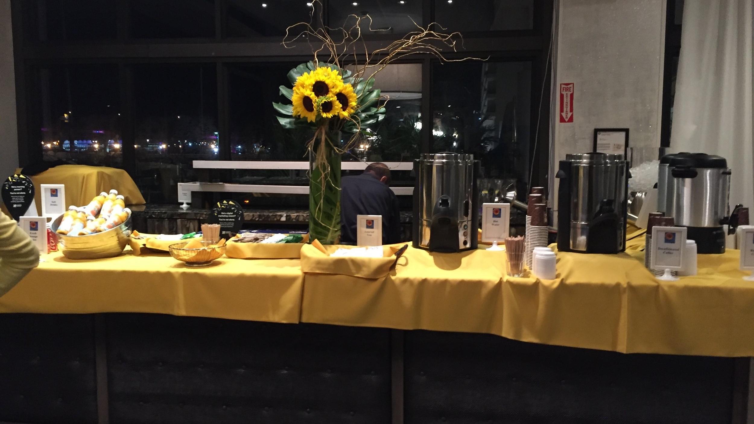 Food & beverage set up, Atlanta, GA
