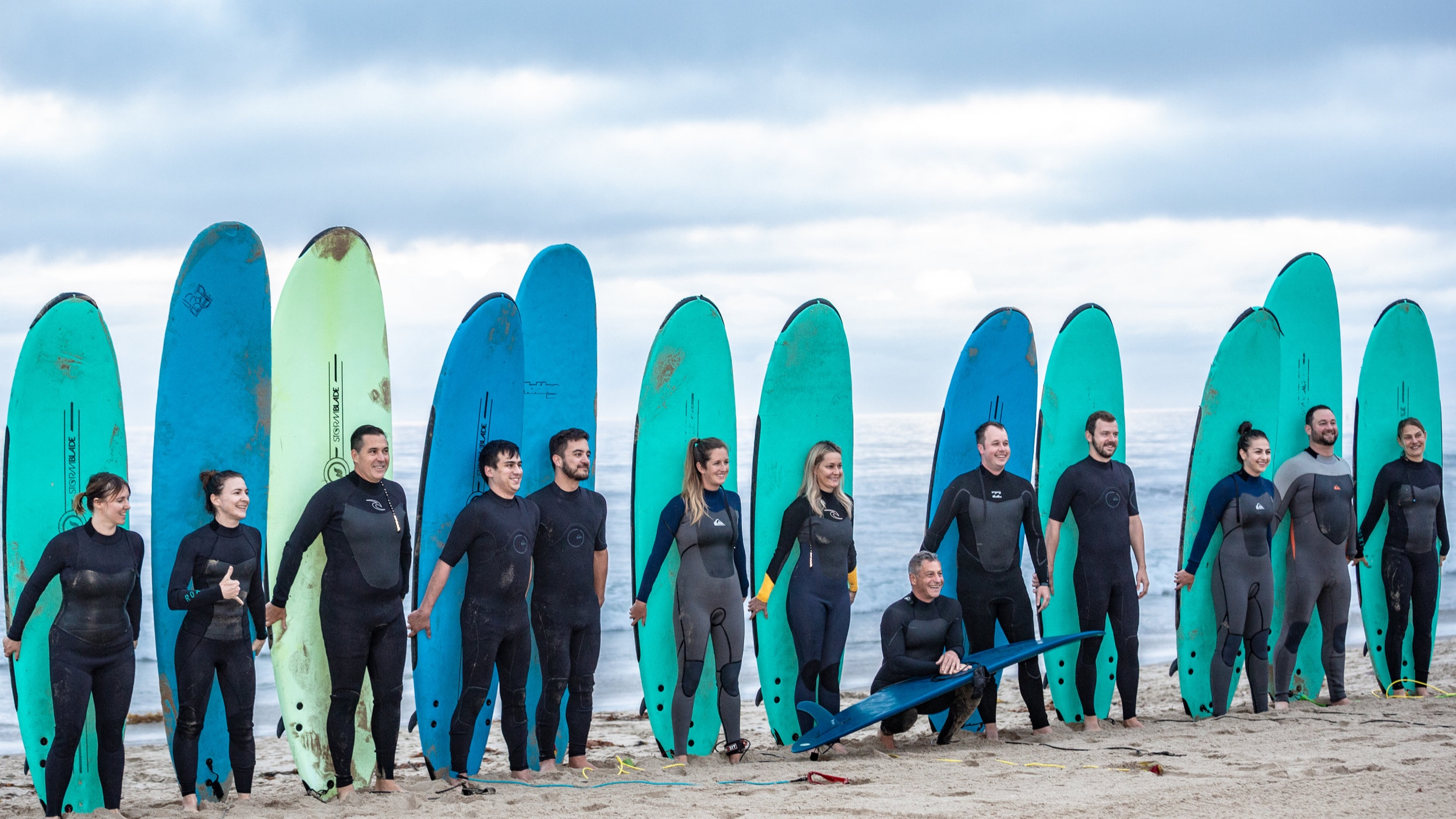 """""""Surfing with the CEO"""" morning activity"""