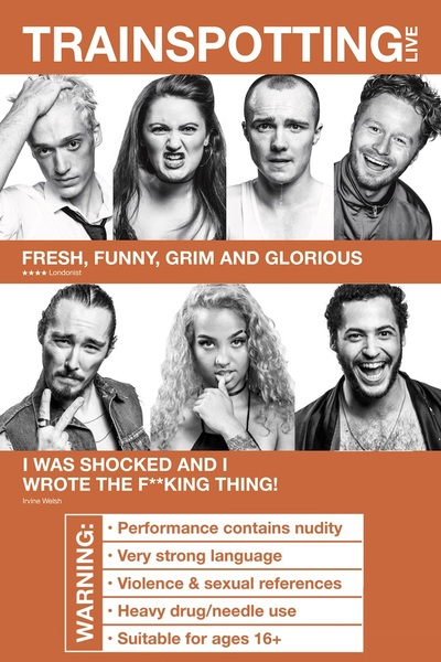 Trainspotting Live the immersive theater play off Broadway