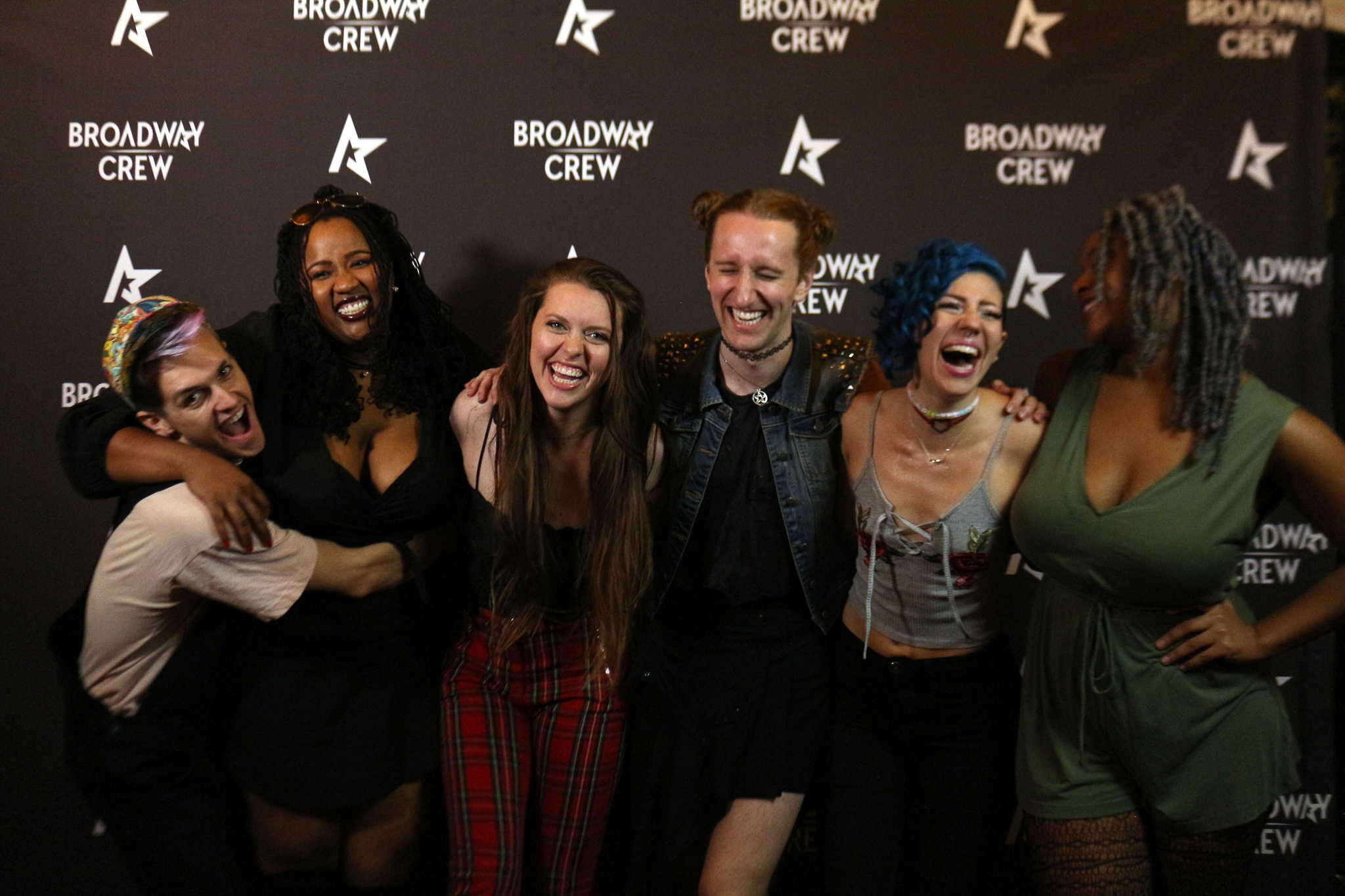 The Neon Coven celebrating at Broadway Crew's One Year Anniversary blow out!