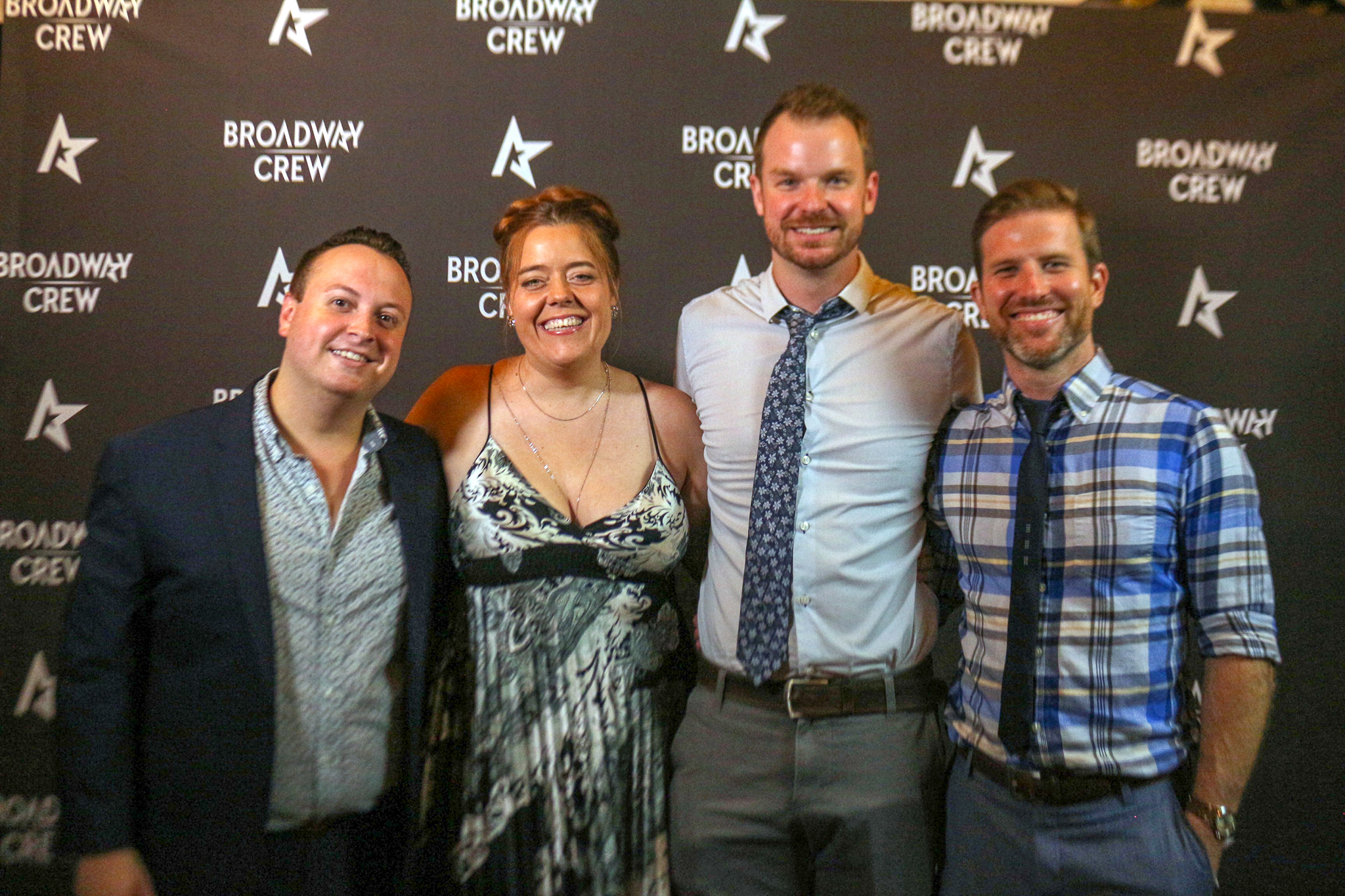 Broadway Crew office staff (from left to right) Justin Adams, Tiffany McCullough, and founders Jackson Thompson and Sam Clark.