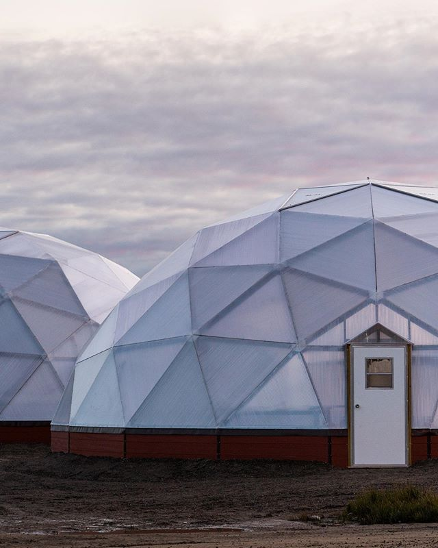 Double Domes #arcticgrown . . . . . 📷 @our.dayjob #nunagram #nunavut #polar #arctic #geodesic #dome #greenhouse #north #architecture #instagood #nonprofit #sustainability #environment #design #explorecanada #wethenorth #canada #garden #future #eco #instacool #upnorth #northern #canadagram #canadasworld #instadesign #agro #geometric #architecturephotography