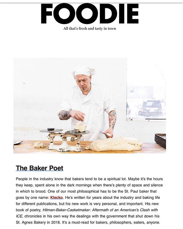 More on Klecko, The Baker Poet  @mspmag #hitmanbakercasketmaker #klecko #quiet #bakinglife @elliottbaybookco
