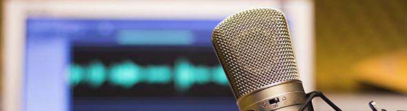 PODCAST. Recording. Music. -