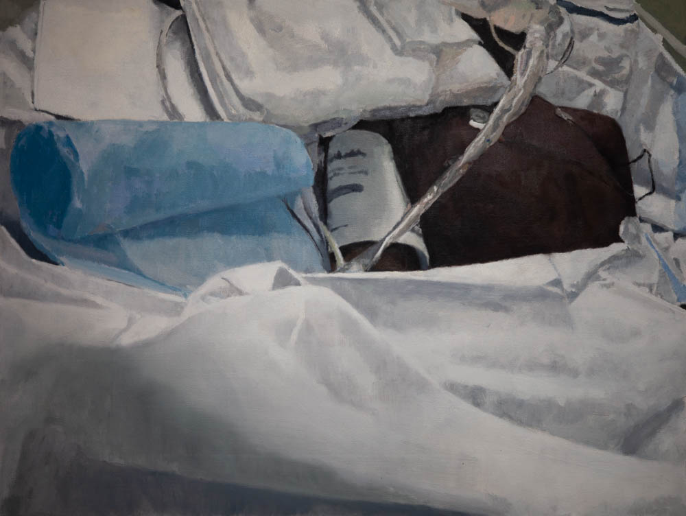 """Life Support 30"""" x 40"""" Oil on Canvas"""