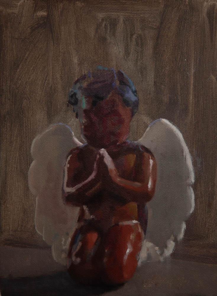 "Elsa's Angel 14"" x 10"" Oil on Canvas"